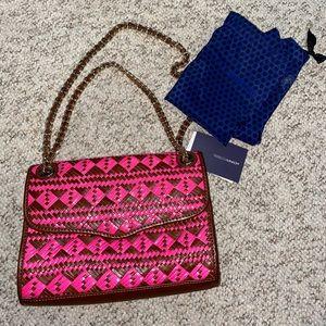 Rebecca Minkoff woven weave affair crossbody bag